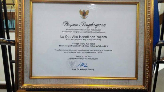 Baru Dilantik, Mendikbud Beri Penghargaan Untuk Orang Tua Musa Hafidz Cilik